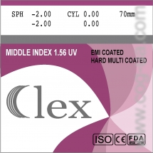 005. Lens Mid index 1,56 HMC EMI WR UV400 Clex