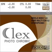 007. Lens Mid index 1,56 HMC EMI WR UV400 Photochromic (Brown; Grey) Clex