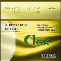 011. Lens High Index 1,67 AS HMC EMI WR UV400 Clex